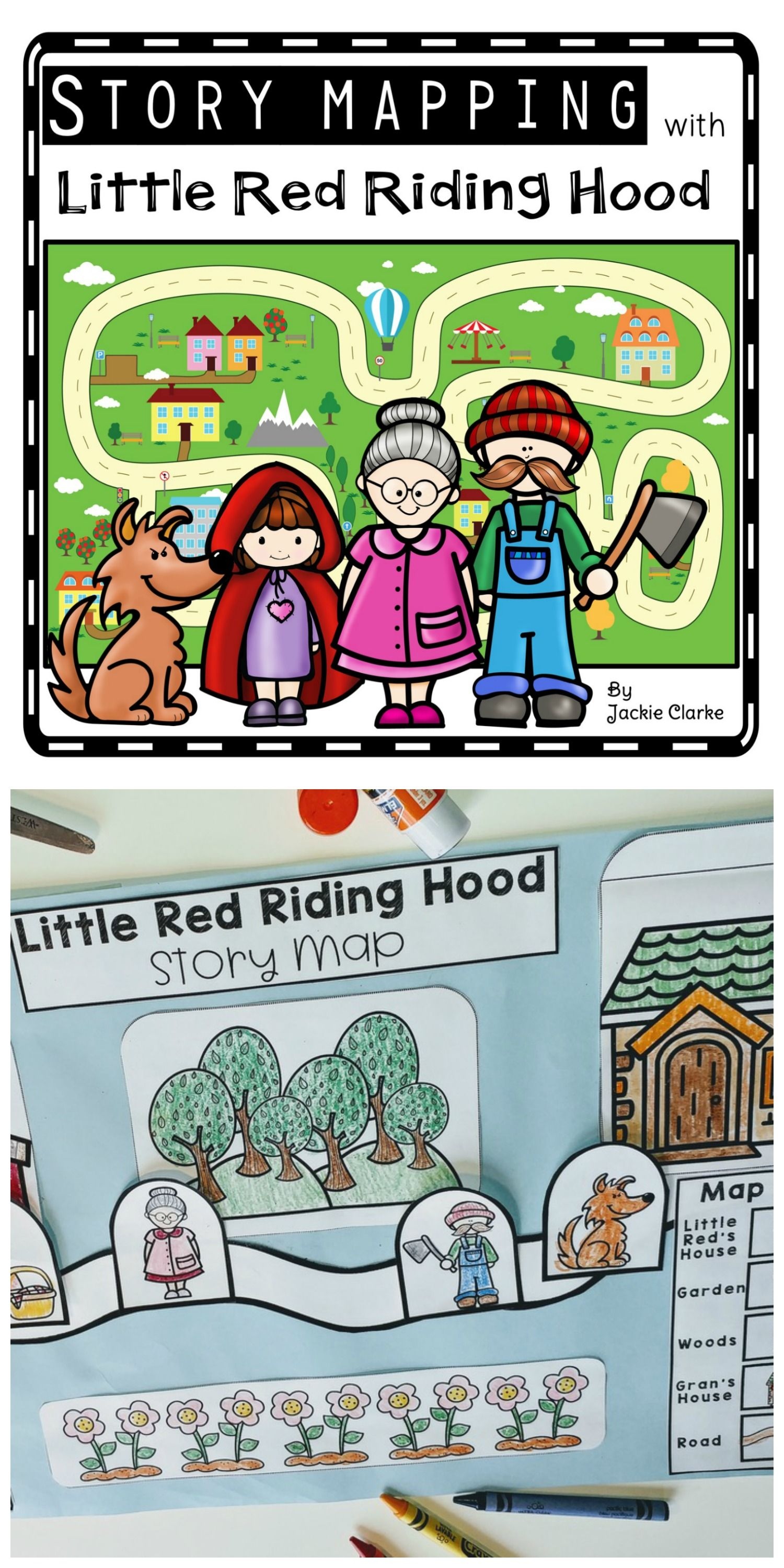 Fairy Tale Story Maps Little Red Riding Hood Story