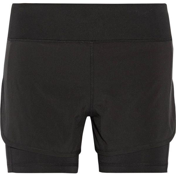 Purity Active - Layered Stretch Shorts ($50) ❤ liked on Polyvore featuring  activewear,