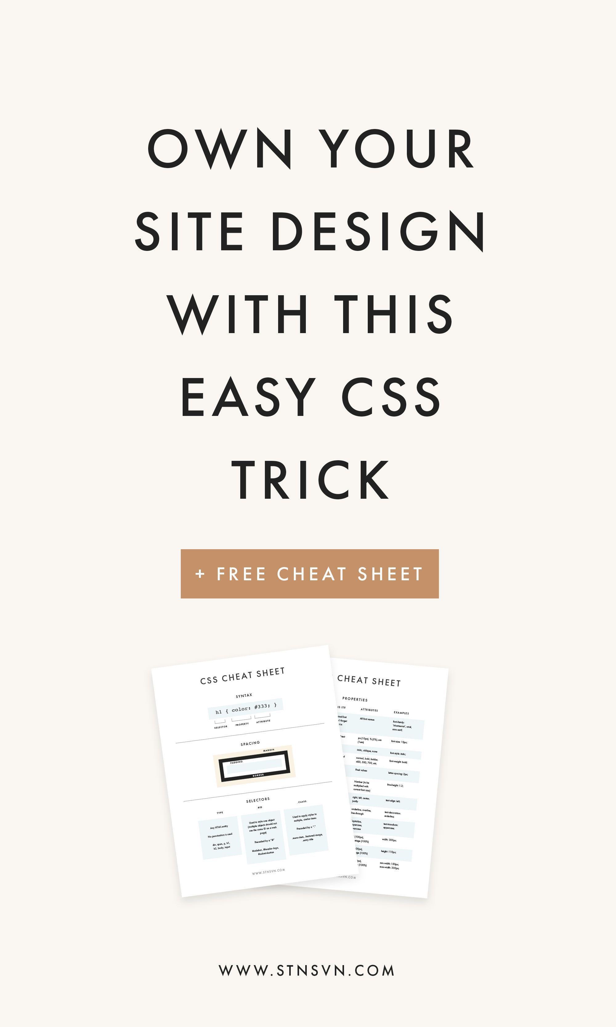 Css Cheat Sheet Web Design Resources Website Design Branding Tips Blogging For Beginners Css Cheat Sheet Web Design Tips Site Design