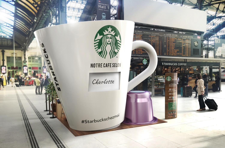 Starbucks Activation Street Capsules I Nicolas Baral