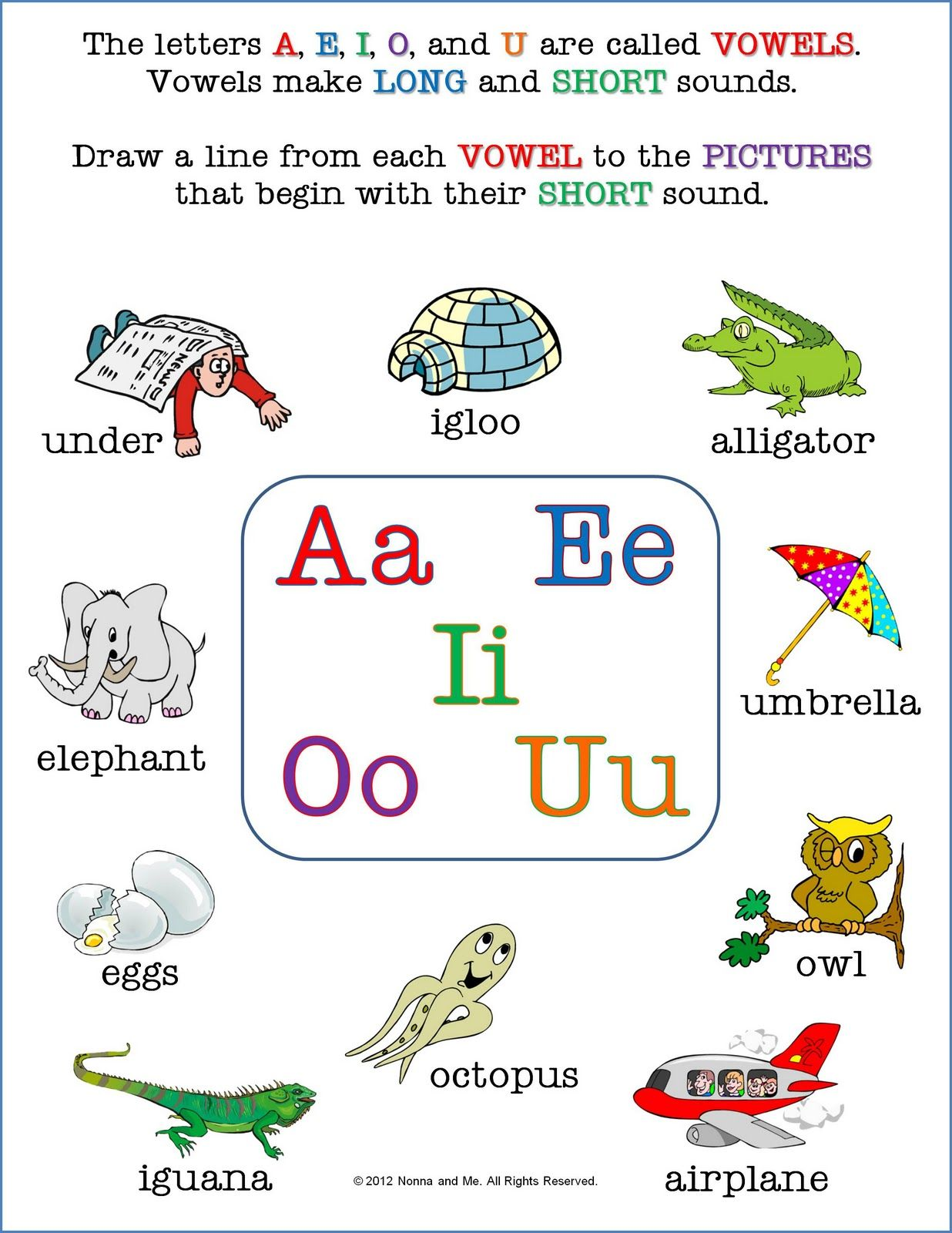 Nonna And Me A As In Alligator Short Vowel Worksheets