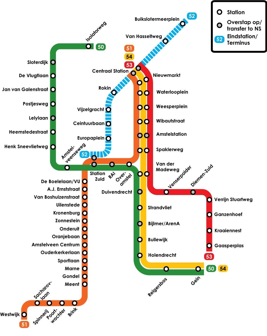 Subway Map Of Amsterdam.Amsterdam Subway Map Metro In 2019 Train Map Subway Map