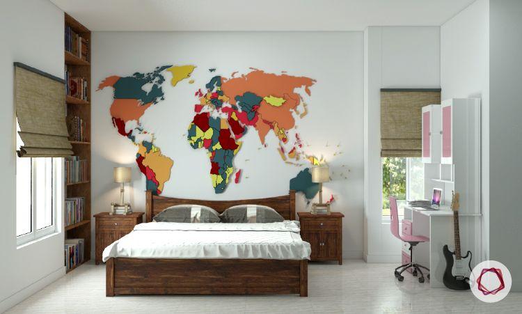 World Map Decorating Ideas   Credainatcon.com