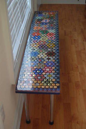 beer cap crafts bottle cap table beer