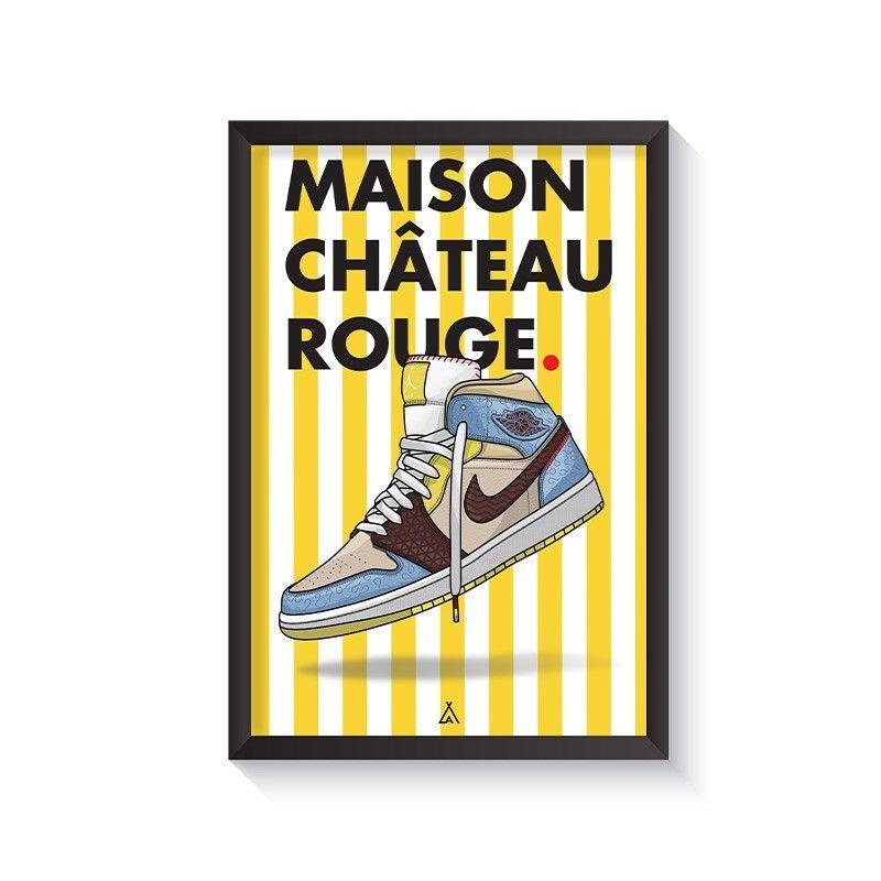 Cadre Air Jordan 1 x Maison Château Rouge en 2021   Maison chateau ...