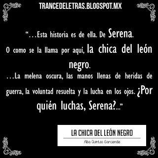 """La Chica del León Negro"" Reseña: http://bit.ly/1SuLI26"