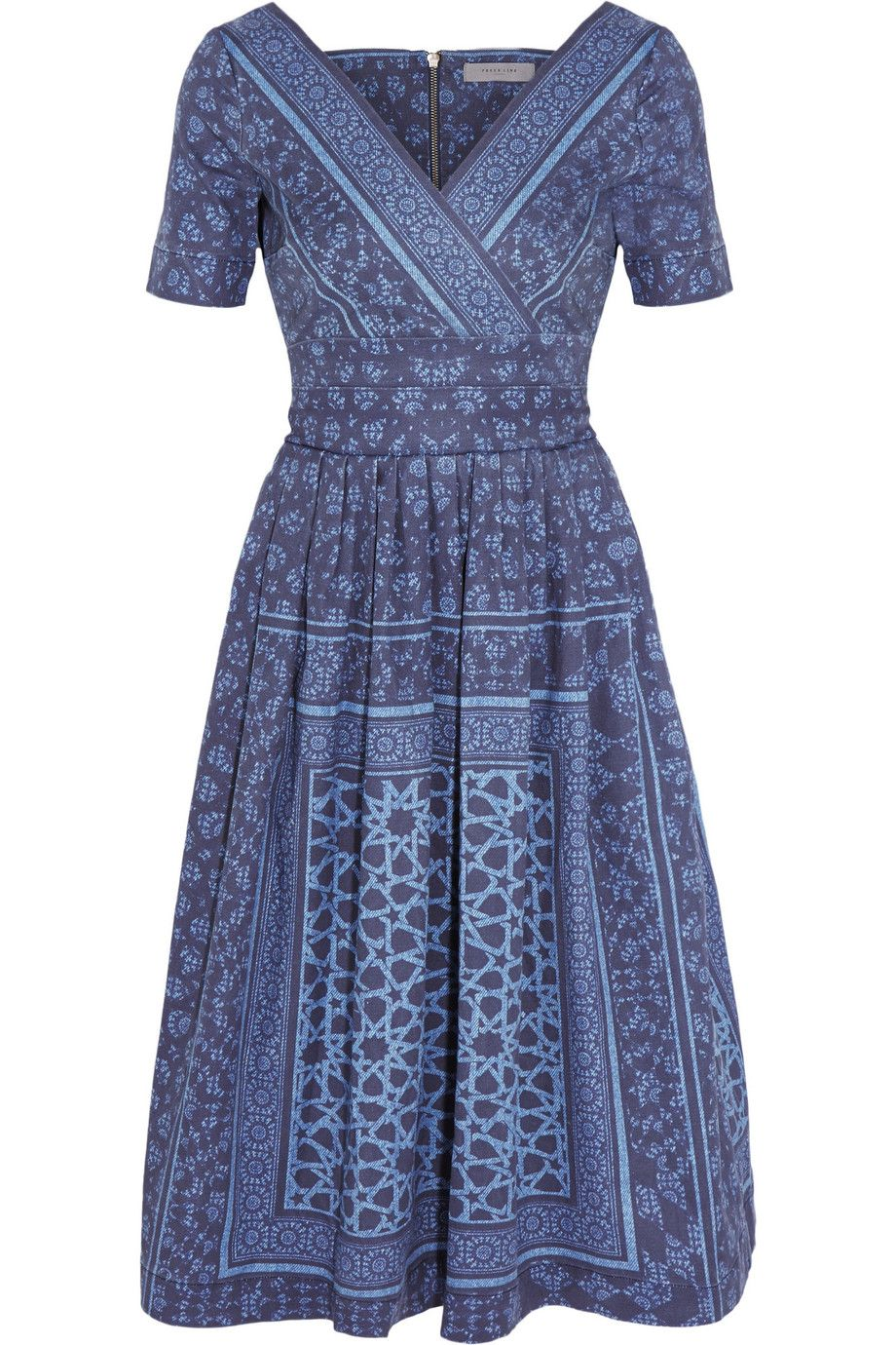 05478aa08a Shop on-sale Preen Line Saira printed denim dress. Browse other discount  designer Dresses   more on The Most Fashionable Fashion Outlet