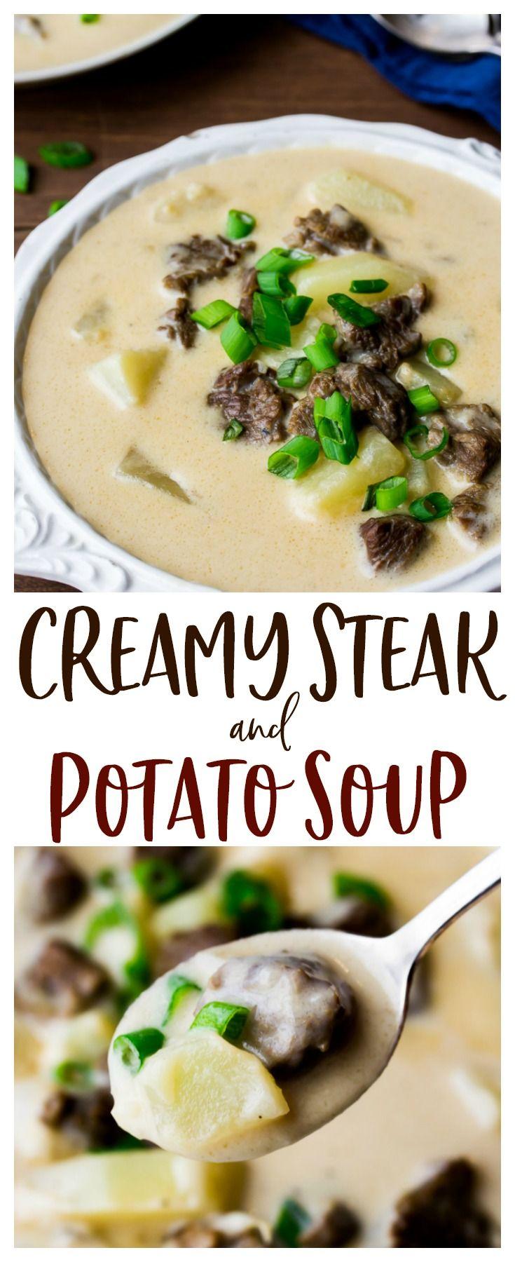 Creamy Steak and Potato Soup
