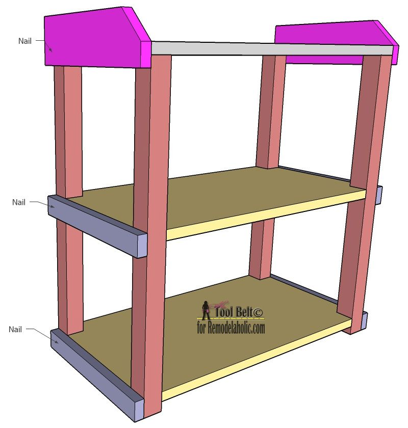 Free DIY Plans To Build An Easy And Stylish Small Shelf On