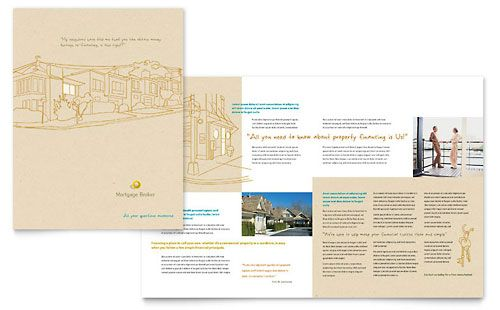 Mortgage Broker Brochure Microsoft Publisher Template Design