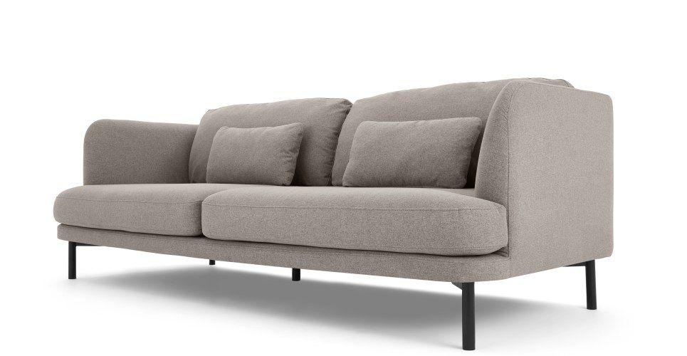 Herman 3 Seater Sofa Manhattan Grey 3 Seater Sofa Sofa Seater Sofa
