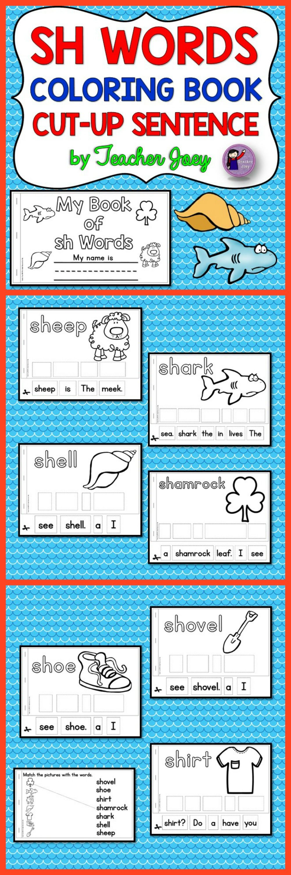Digraphs Coloring Book | phonics | Pinterest | Simple sentences ...