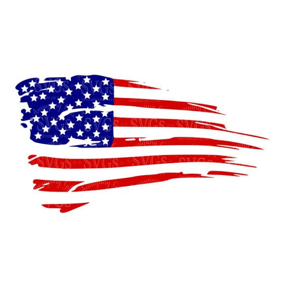 SVG Distressed American Flag US Decor