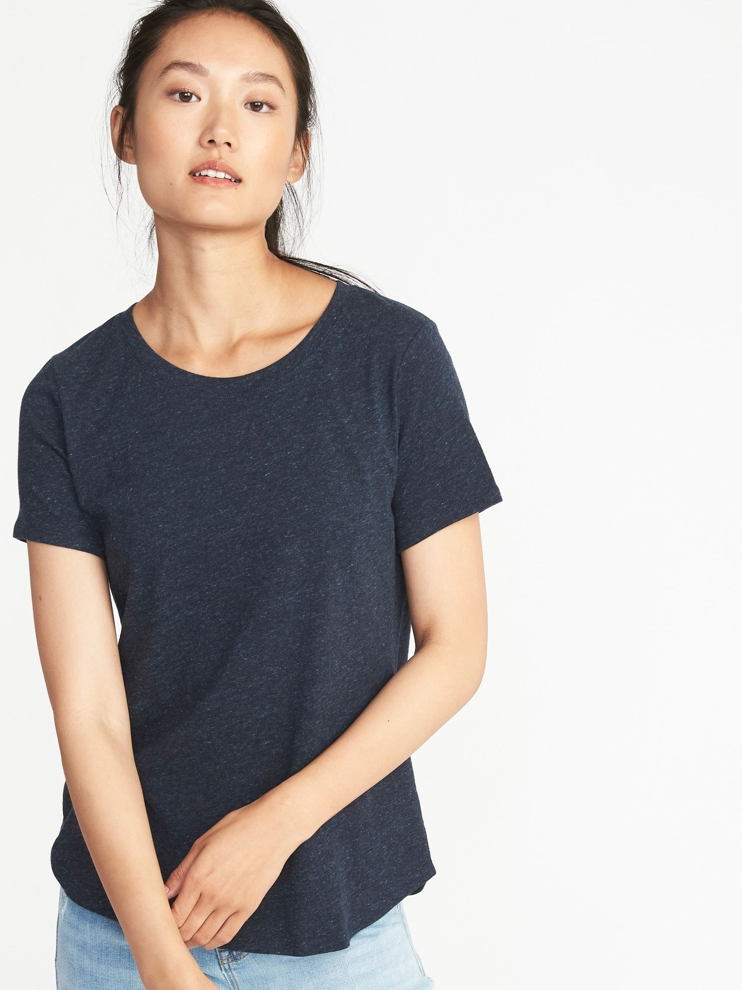 606601cd2 EveryWear Crew-Neck Tee for Women | clothes | Navy tees, Tees for ...