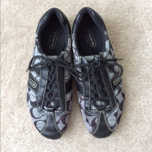 Coach Authentic Kirby Sneakers Size 6  Coach Authentic Kirby Sneakers Size 6. These cute coach sneakers are in good used condition. As is they need a cleaning and have some wear price accordingly Coach Shoes Sneakers