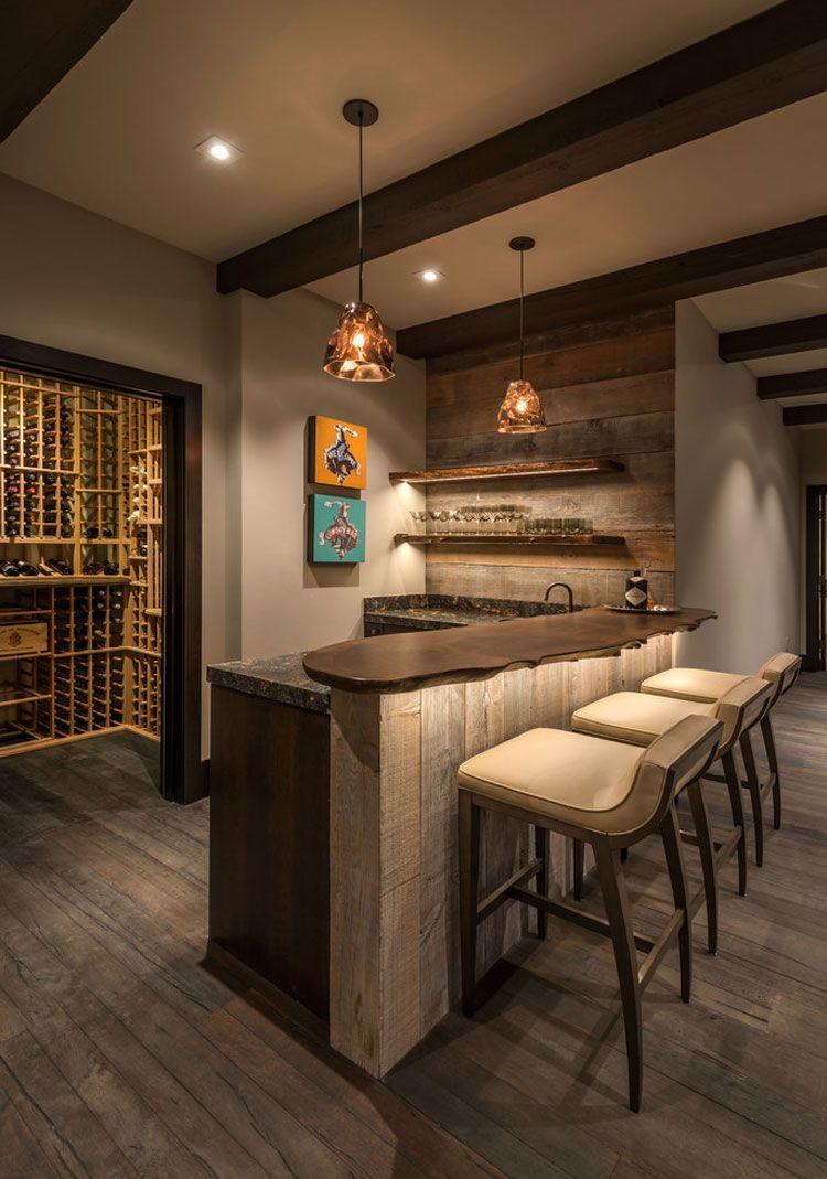 16 Esempi Di Angolo Bar In Casa Con Arredamento Rustico Bar Tables