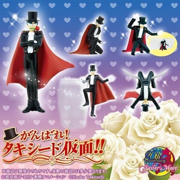 Bandai Bishoujo Senshi Sailor Moon Go For It Tuxedo Kamen Figure Set of 5 #BANDAI