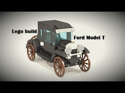 Lego Build Ford Model T Moc Ldd Instructions Youtube Ford
