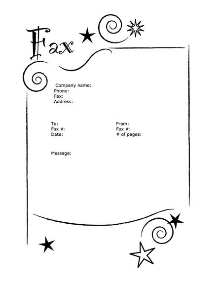 MS Word Fax Templates By MyFax