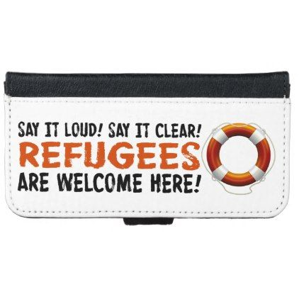 #black - #Refugees Welcome iPhone & Samsung Wallet Case