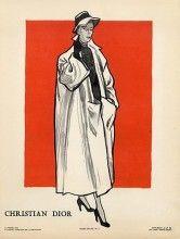 Pierre Louchel 1948 Christian Dior Manteau, Millinery