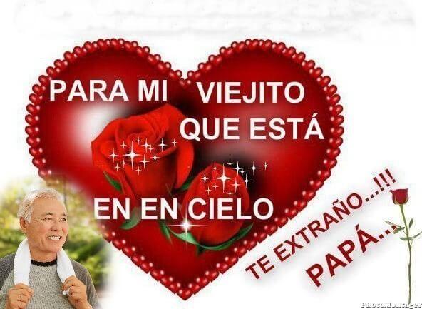 Imagen+De+Un+Corazón+Con+Un+Mensaje+Para+Mi+Papá+Que+Esta+En+El+Cielo