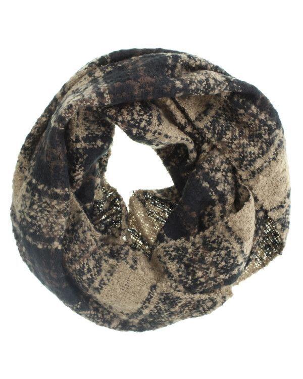 Maude Plaid Knit Infinity Scarf