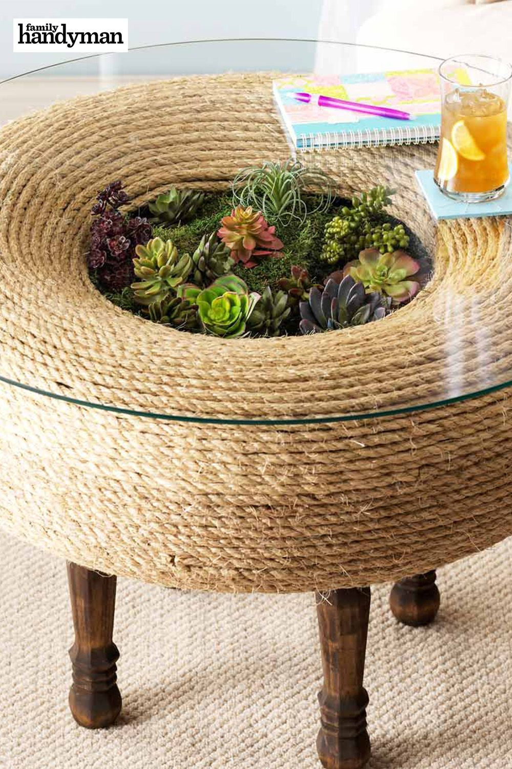 Photo of Terrarium Twist: How to Turn an Old Tire Into a Planter Table