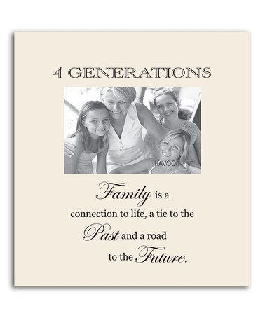 Take a look at this Oyster '4 Generations' Family Frame by