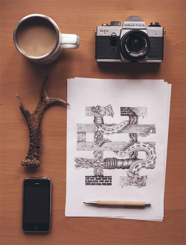Hand drawn STREETHYPESTORE LOGO by Damian Denis, via Behance