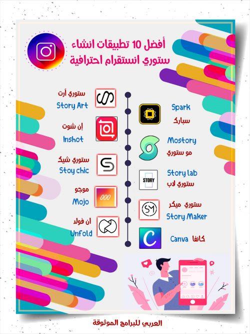 تحميل أفضل برنامج ستوري الانستقرام أفضل 5 تطبيقات لانشاء قصص انستقرام احترافية Android Apps Instagram Story Story Lab
