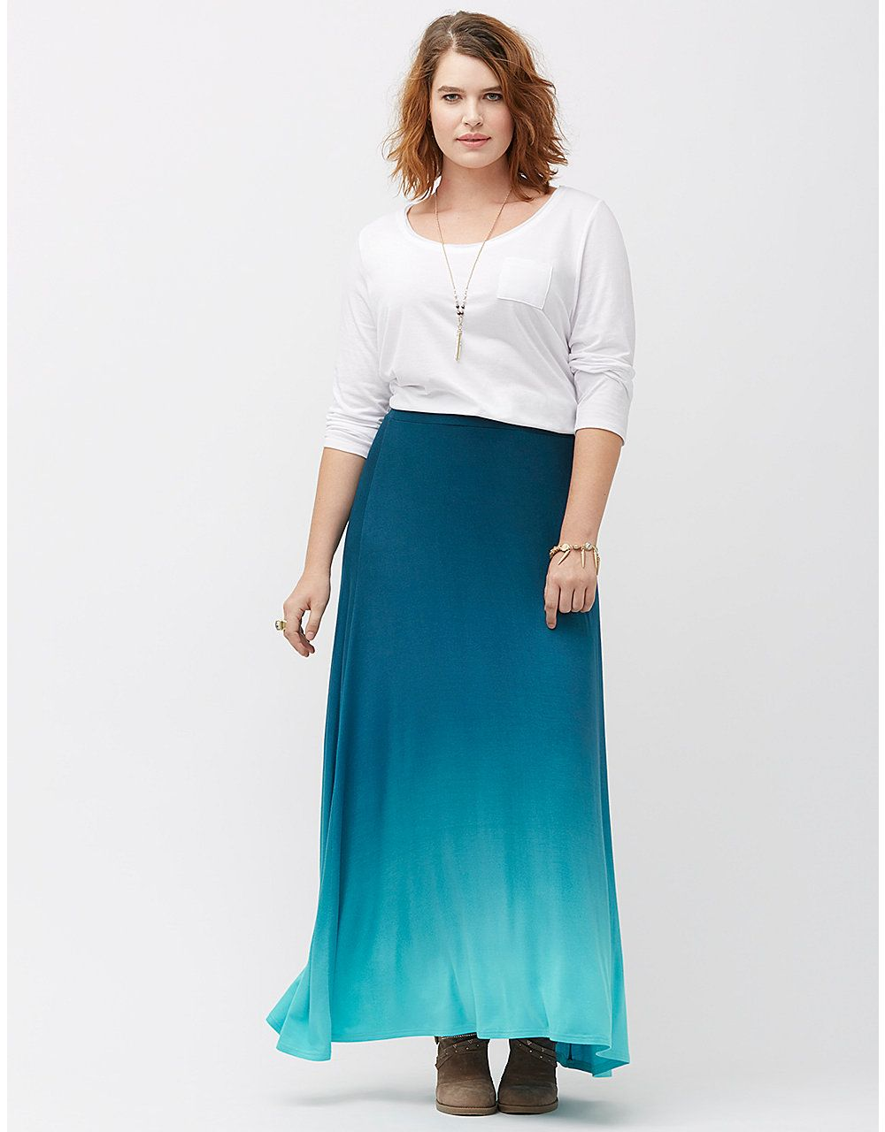 d906be53400d6 Ombre maxi skirt by Lane Bryant