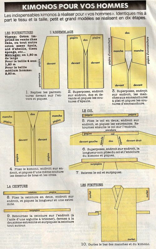 Kimono for Men - sewing pattern | Costura | Pinterest | Patrones ...