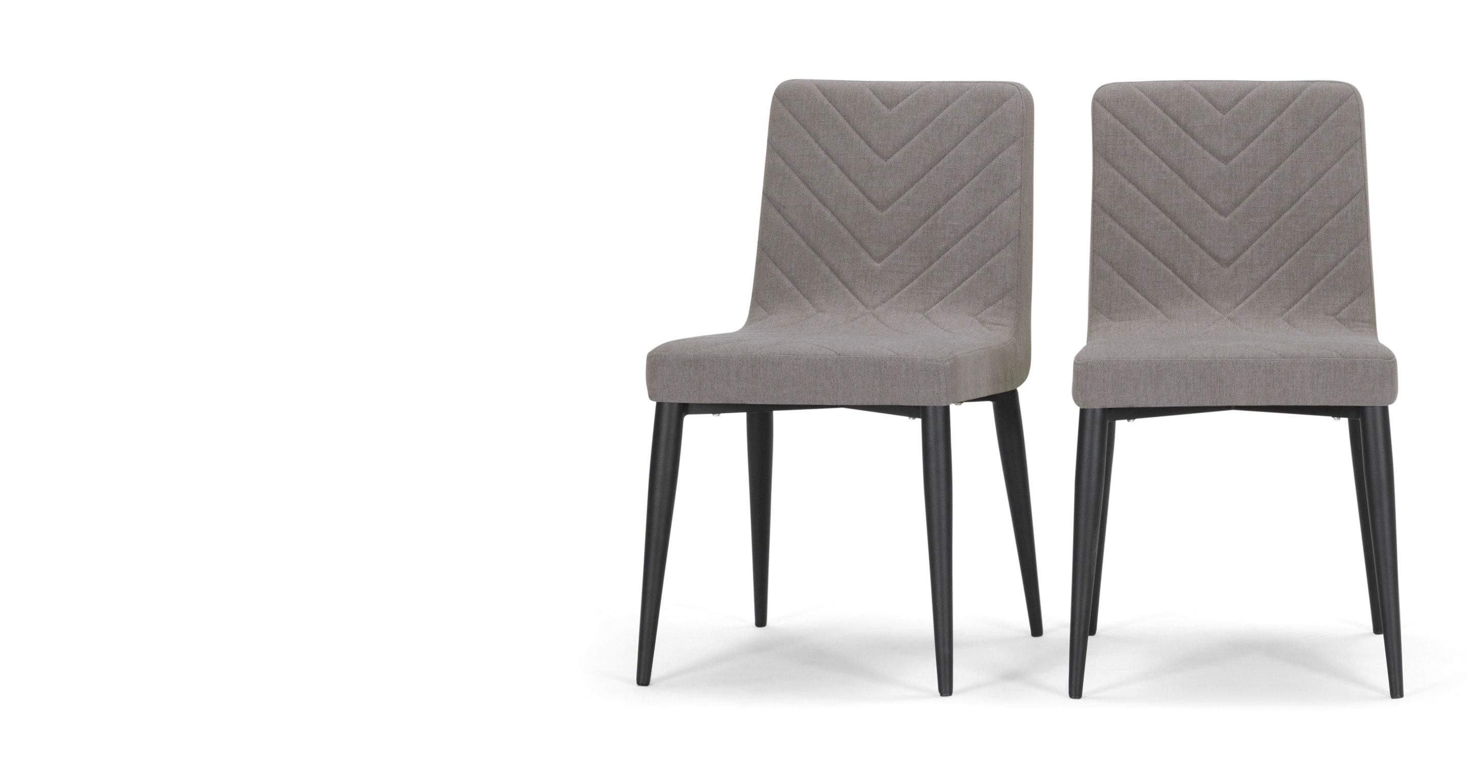 Grey Dining Room Chairs: Set Of 2 Dining Chairs In Graphite Grey Fabric, Lex