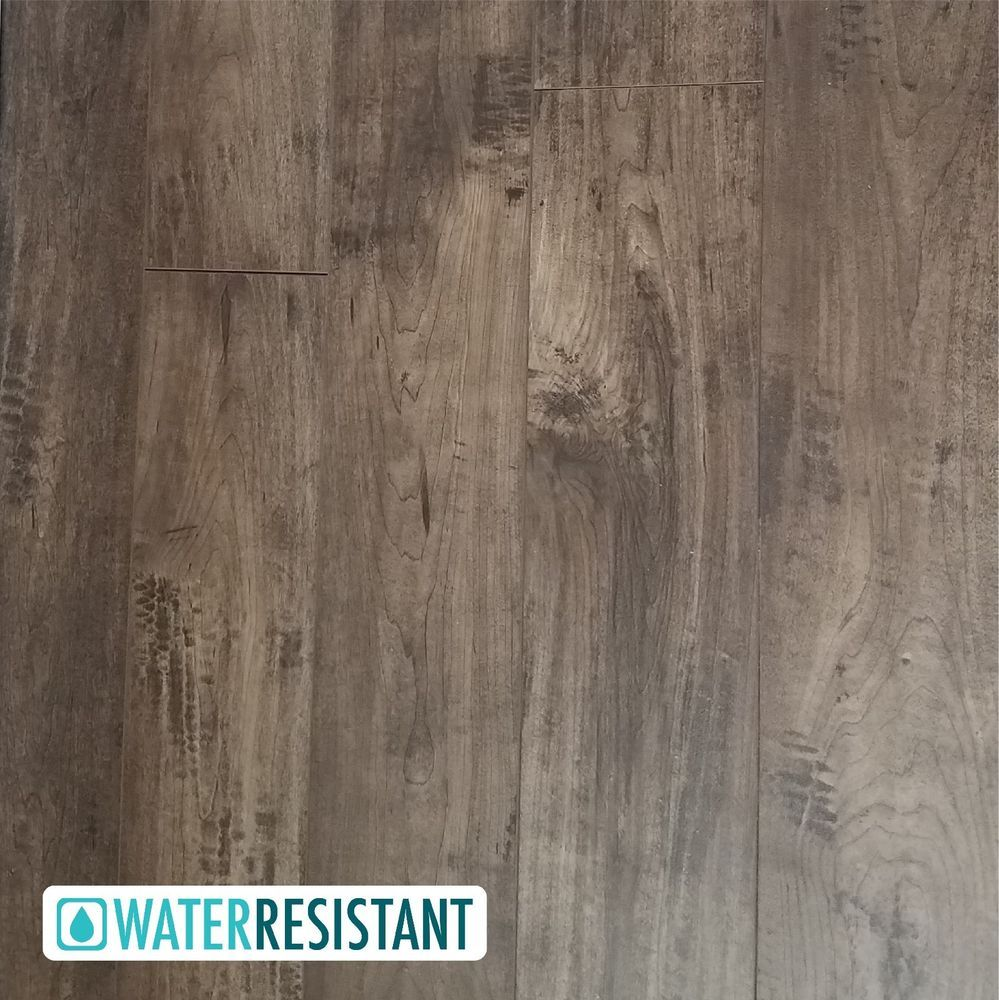 Sample Gray Brown Handscraped Crafted Maple Laminate Flooring Sandpiper 12mm Ebay Maple Laminate Flooring Grey Laminate Flooring Laminate Flooring