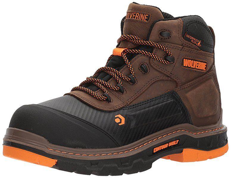 Amazon Com Wolverine Men S Overpass 6 Composite Toe Waterproof Work Boot Summer Brown 7 M Us Indust Work Boots Men Most Comfortable Work Boots Boots Men