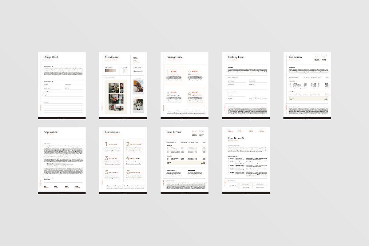 San Francisco Proposal Pack Indesign Templates Lettering Design Proposal