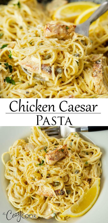 One Pot Chicken Caesar Pasta