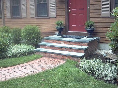Blue Stone And Brick Steps Brick Steps Hanover Ma