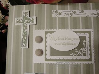 Stampin' & Scrappin' with Stasia: Christening Scrapbook Page
