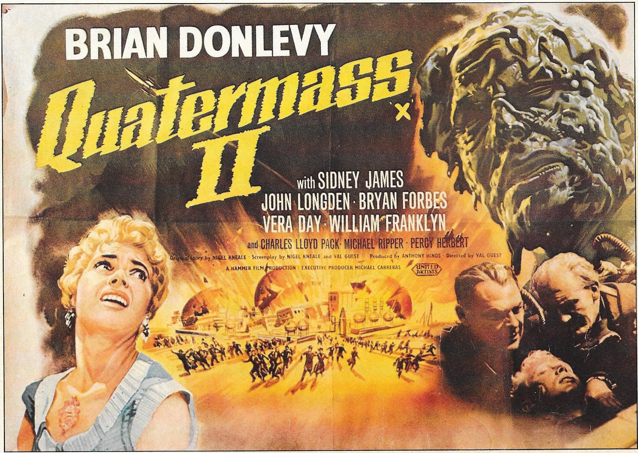 Poster for 'Quatermass 2'  AKA 'Enemy From Space' 1956