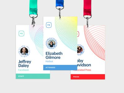 F8 Event Badges Badges, Event branding and Business cards - conference agenda
