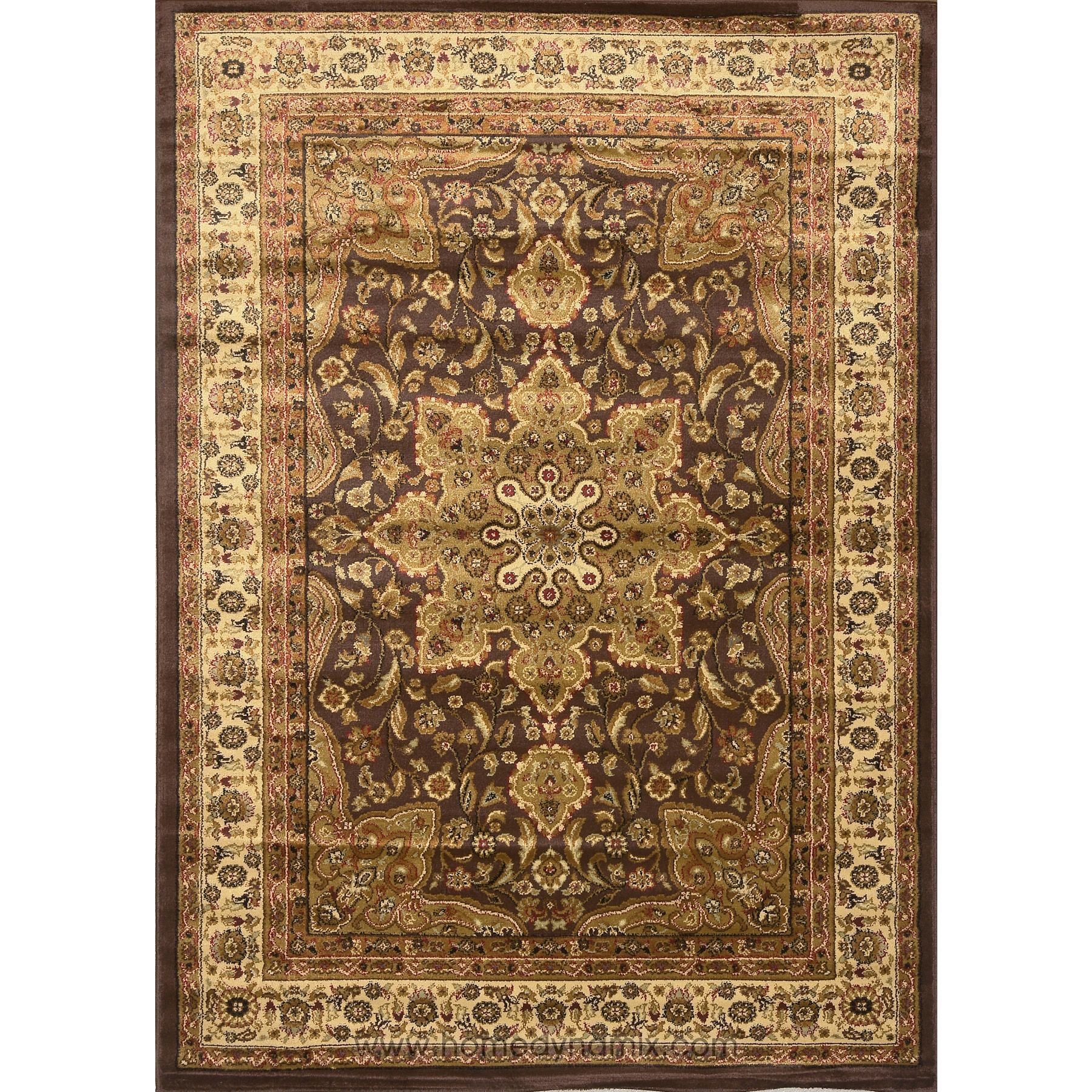 Home Dynamix Royalty Collection 8083 500 Brown Area Rug 1 7 6 X 2 5 Traditional 19 X31 Ter Beige Size 3 Plastic