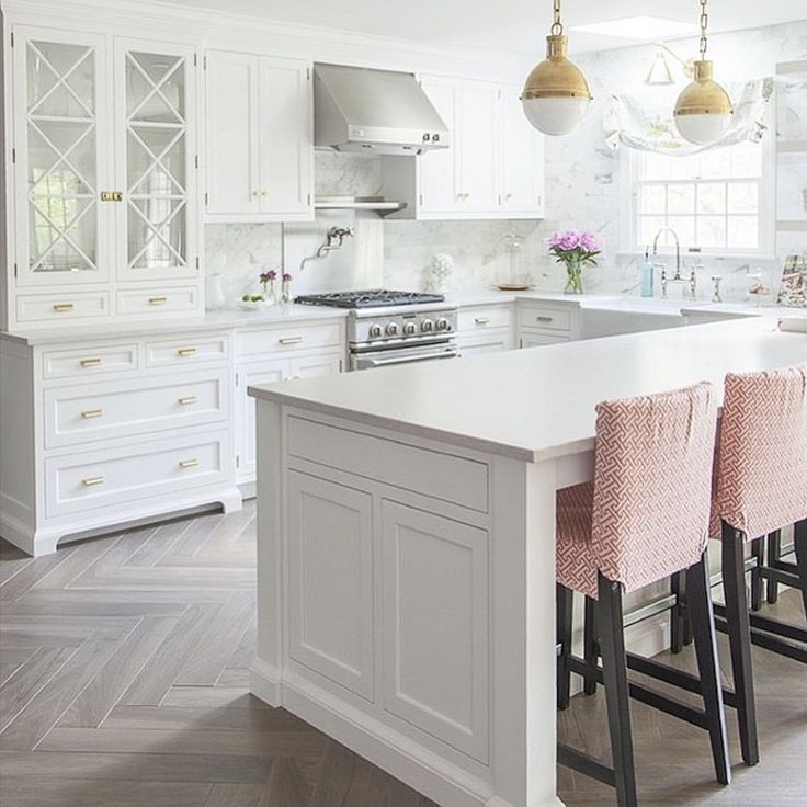 The White Kitchen Is Here To Stay  Kitchens Kitchen Floors And Glamorous Kitchen Floor Designs Decorating Design
