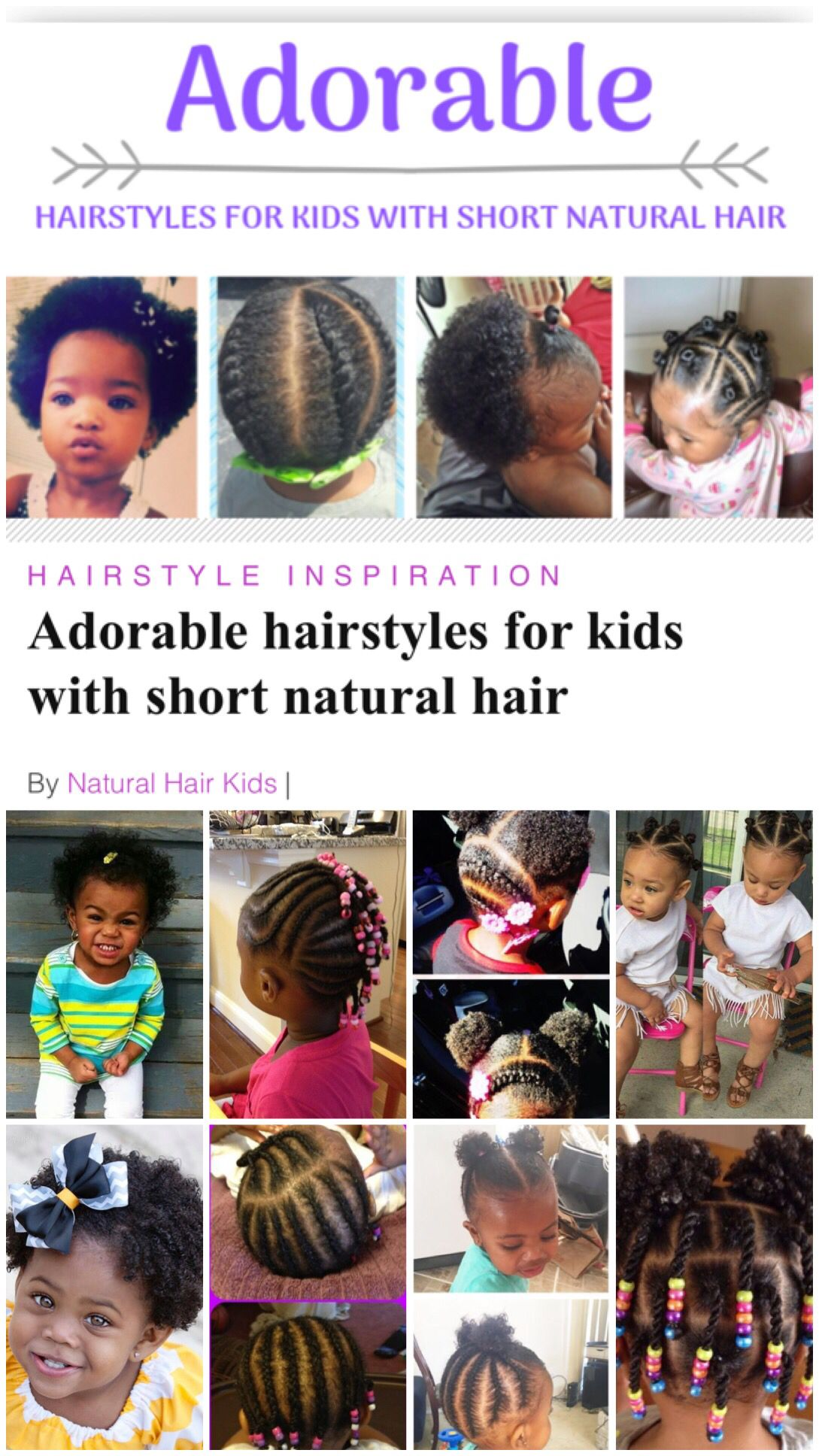 Hairstyles For Little Black Girls With Short Hair Kids