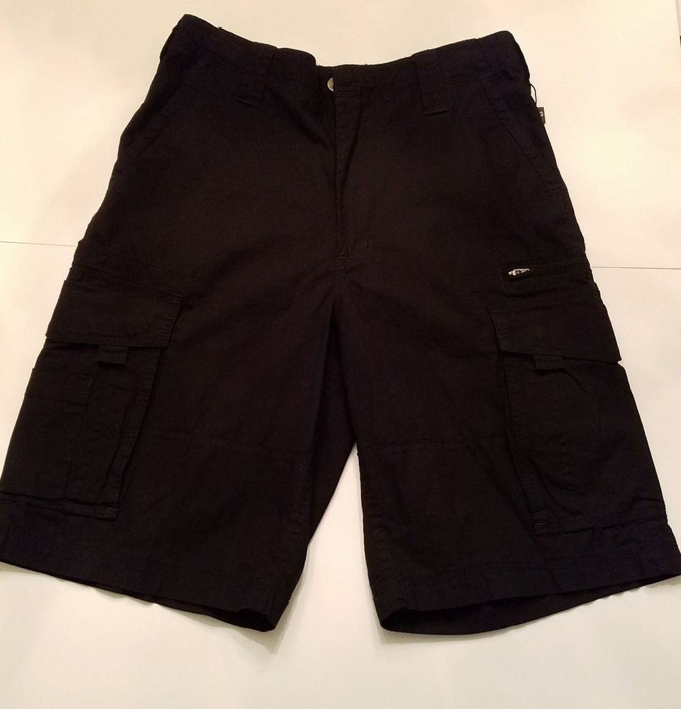 d0875de98f CSG Mens Champs Sports Gear Flat Classic Fit Black Cargo Shorts Size 30 New  Tags   Clothing, Shoes & Accessories, Men's Clothing, Shorts   eBay!