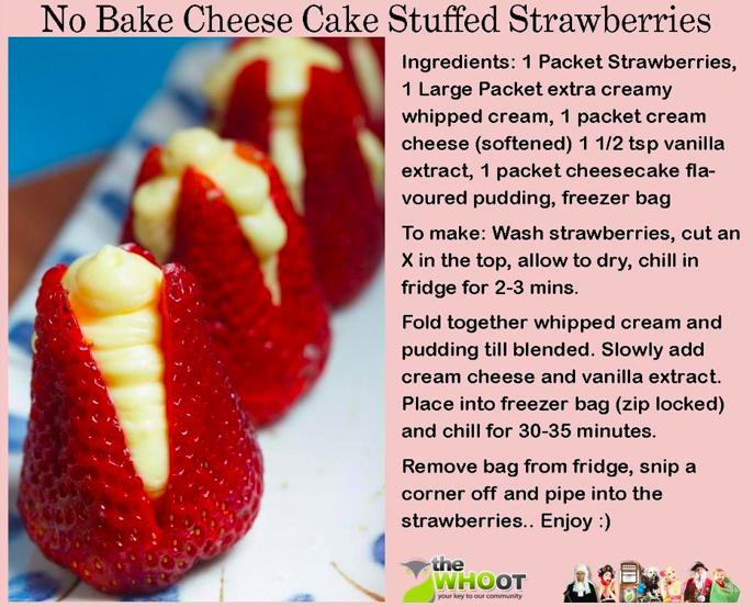 recipe: cheesecake stuffed strawberries pinterest [21]