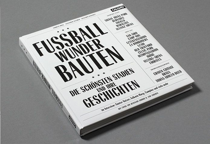 Fussball Wunder Bauten Callwey Type For You Book Cover Typography Letterpress