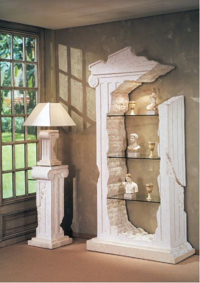 Display Your Knick Knacks Like Antiquities Roman Columns Columns Decor Greek Decor