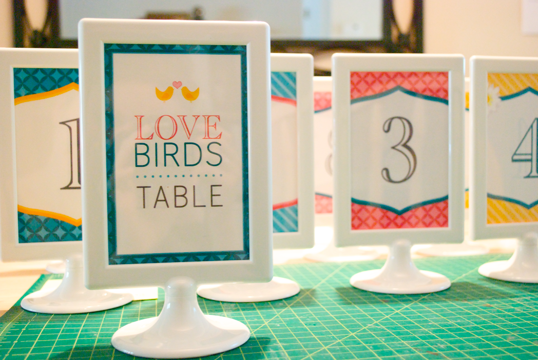Wedding Table Diy Love Our Love Birds Table Number Sooo Cute Love My Green Wedding Table Numbers